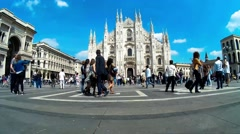 Milan Cathedral Timelapse Stock Footage