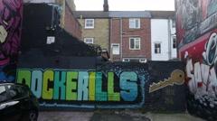 Creative art graffiti in England Stock Footage