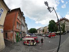 Krakow, Poland - June 17, 2016: Szeroka Street of Krakow's Jewish part called Kuvituskuvat