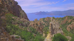 4K Corsica Piana - breathtaking aerial shot Stock Footage