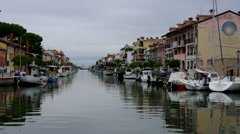Grado canal in Italy Stock Footage
