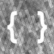 Curly Bracket Icon Stock Illustration