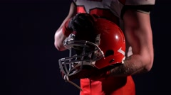 American football sportsman player isolated Stock Footage