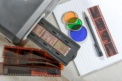 Scanner for film and slides Stock Photos