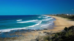 View of the Point Cartwright beach, Looking towards Caloundra, Australia Stock Footage