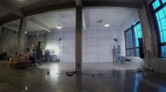Preparation in studio and shooting of dance performance. Timelapse Stock Footage