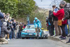Conflans-Sainte-Honorine,France-March 6,2016:  The Cyclist Luis Leon Sanchez Gil - stock photo