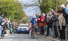 Conflans-Sainte-Honorine,France-March 6,2016:  The Cyclist Arthur Vichot Stock Photos