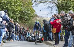 Conflans-Sainte-Honorine,France-March 6,2016:  The Cyclist Ion Izagirre Stock Photos