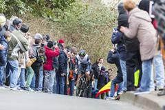 Conflans-Sainte-Honorine,France-March 6,2016: The Cyclist Nathan Haas - stock photo