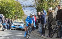 Conflans-Sainte-Honorine,France-March 6,2016:  The Cyclist Evaldas Siskevicius Stock Photos