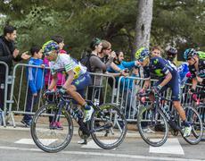 Barcelona, Spain - March 27, 2016:  Nairo Quintana - Tour de Catalunya 2016 Stock Photos