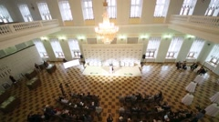 Opening of season Yasnaya Polyana Literary Award, above view Stock Footage