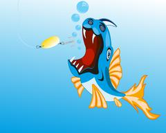 Fish sails for spoon bait Stock Illustration
