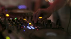 DJ mixer at the disco Stock Footage
