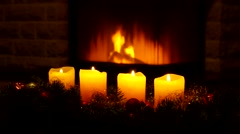 Candles and chimney fire Stock Footage