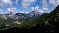 Lake Misurina in italian Dolomites Stock Footage