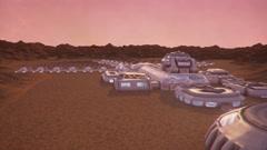 Mars base Stock Footage