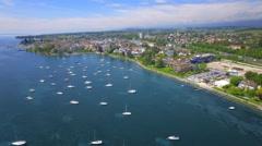 4K Switzerland cinematic aerial shot Stock Footage