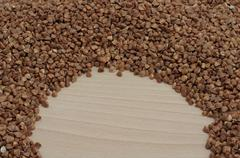 Semicircle with buckwheat Stock Photos