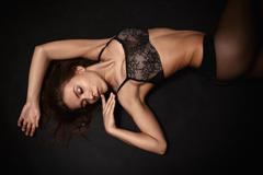 Girl in lingerie Stock Photos