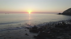 Sunrise at beach Stock Footage