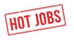 Hot jobs rubber stamp Stock Illustration