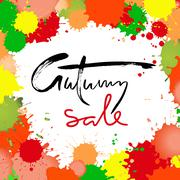 Autumn Sale inscription for banners, season sale posters, discount tags. - stock illustration