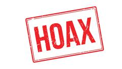 Hoax rubber stamp - stock illustration