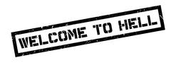 Welcome to hell rubber stamp Stock Illustration