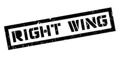 Right wing rubber stamp - stock illustration