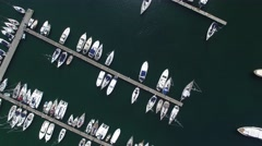 Top view of Boats in Procida, Italy Stock Footage