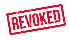 Revoked rubber stamp Stock Illustration