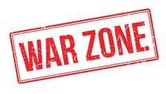 War zone rubber stamp - stock illustration