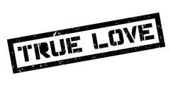 True love rubber stamp Stock Illustration