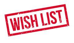 Wish List Rubber Stamp - stock illustration