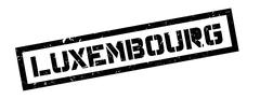 Luxembourg rubber stamp Stock Illustration