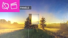 Minimal Panels Slideshow - Apple Motion and Final Cut Pro X Template Stock After Effects