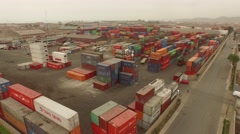 AERIAL: Container terminal in Callao (Lima), Peru Stock Footage