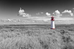 Lighthouse List West, Ellenbogen, Sylt, Schleswig-Holstein, Germany Stock Photos