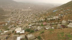 Aerial: Shanty Town in Lima, Peru, South America Stock Footage
