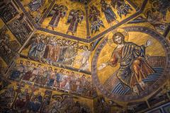 Magnificent mosaic ceiling of the Baptistry of San Giovanni, Florence, Tuscan - stock photo