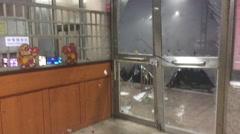 Doors Smashed Open By Destructive Hurricane Wind Stock Footage