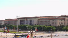 Great Hall of the People at the Tiananmen Square Stock Footage