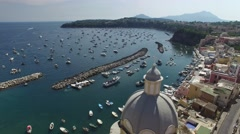 Aerial View of Procida, Italy Stock Footage
