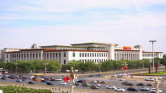 National Museum of China on Tiananmen Square in Beijing Stock Footage