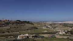 Panorama view of Malta from the city of Mdina. Stock Footage