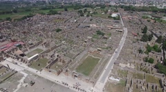 Aerial View of Ruins of Pompei, Italy Stock Footage