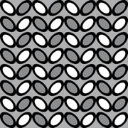 Fun pattern with white grey and black decorations Stock Illustration