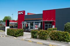 """Entry of the fast food """"KFC"""" of Mulhouse Stock Photos"""